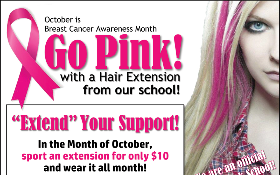 Go Pink – with Hair Extensions!