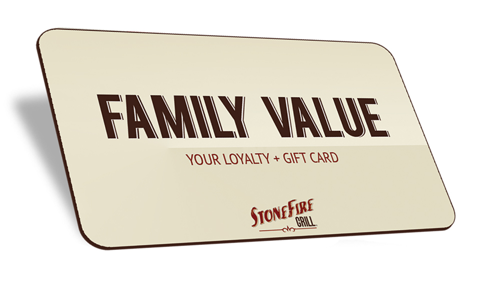 STONEFIRE Grill Family Rewards