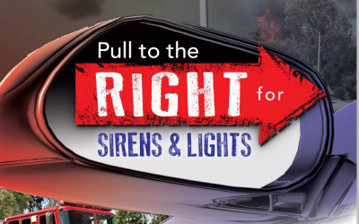"City, CHP, Sheriff and Fire Department Launch ""Pull to the Right"" Campaign"