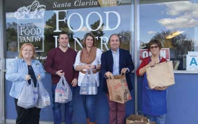 JCI Santa Clarita Celebrates Successful Food Drive Donations support SCV Food Pantry