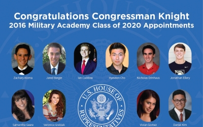 Knight Announces Military Academy Nominees