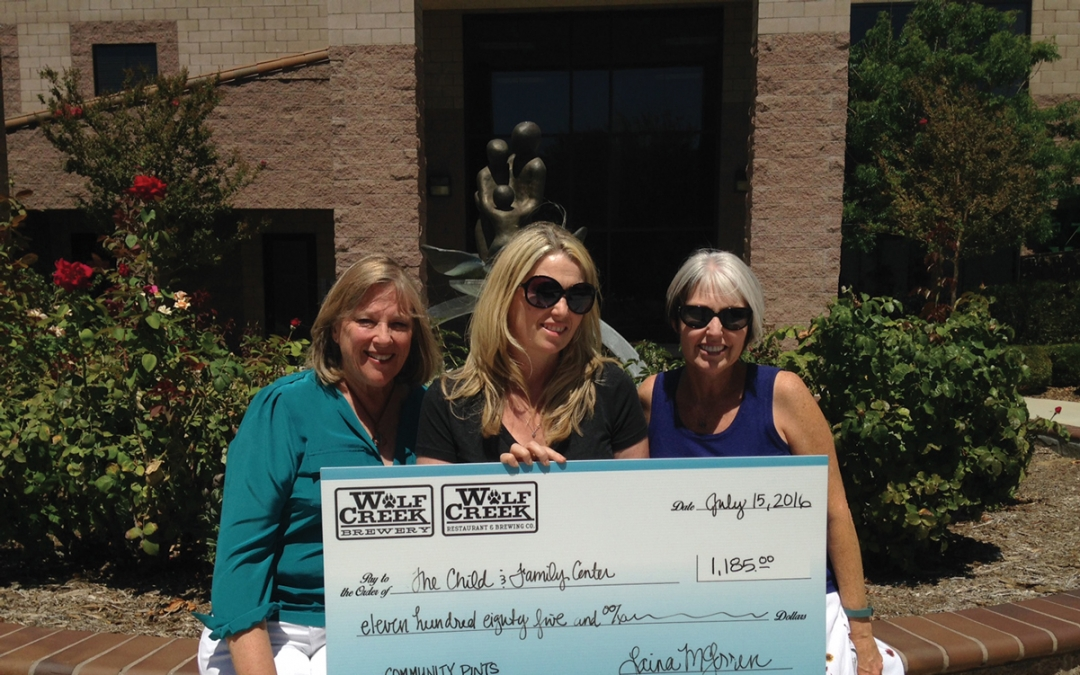 Child & Family Center Receives Donation From Wolf Creek Brewery