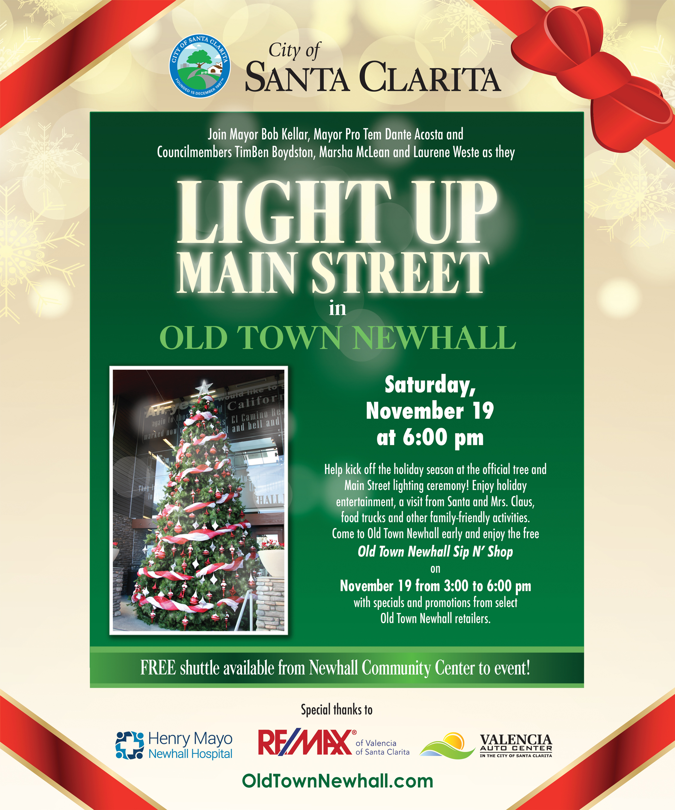 Light Up Main Street 2016 Kick Off Your Holiday Season in