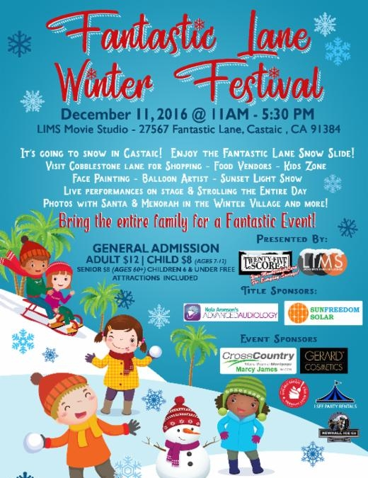 Snow Hits Castaic for Fantastic Lane Winter Festival Celebrate the season on December 11