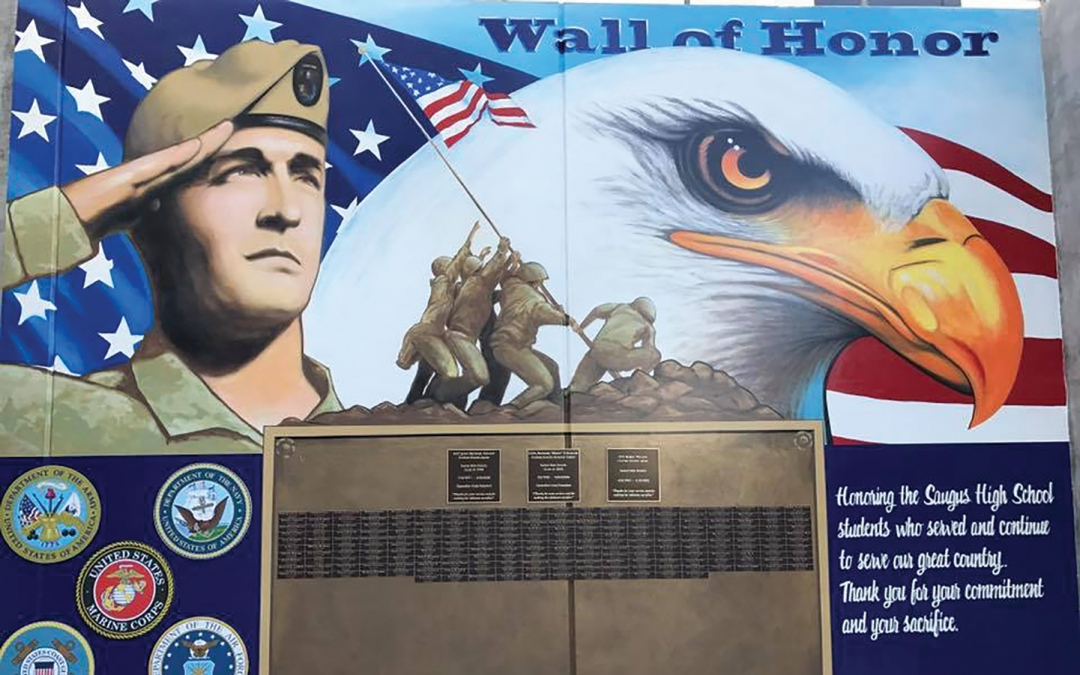 Saugus High School Unveils Wall of Honor