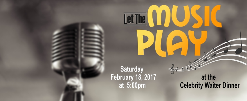 Celebrity Waiter Dinner will Celebrate 'Let the Music Play!'