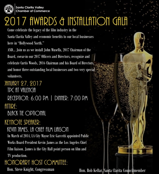 SCV Chamber to Celebrate 'Hollywood North' at Awards and Installation Gala