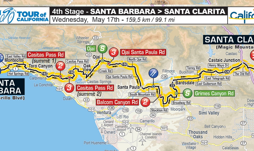 2017 Amgen Tour of California Route Announced Santa Clarita to provide setting for exciting Stage 4 finish