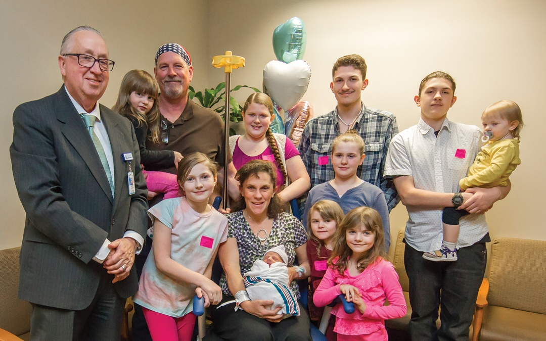 Childbirth, Kindness and a 12-Person Van 16 years and nine children in, the Connell family still goes out of their way for Henry Mayo Newhall Hosptial