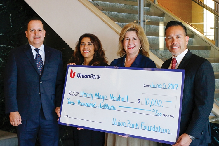 Union Bank Presents Check to Henry Mayo Newhall Hospital Foundation