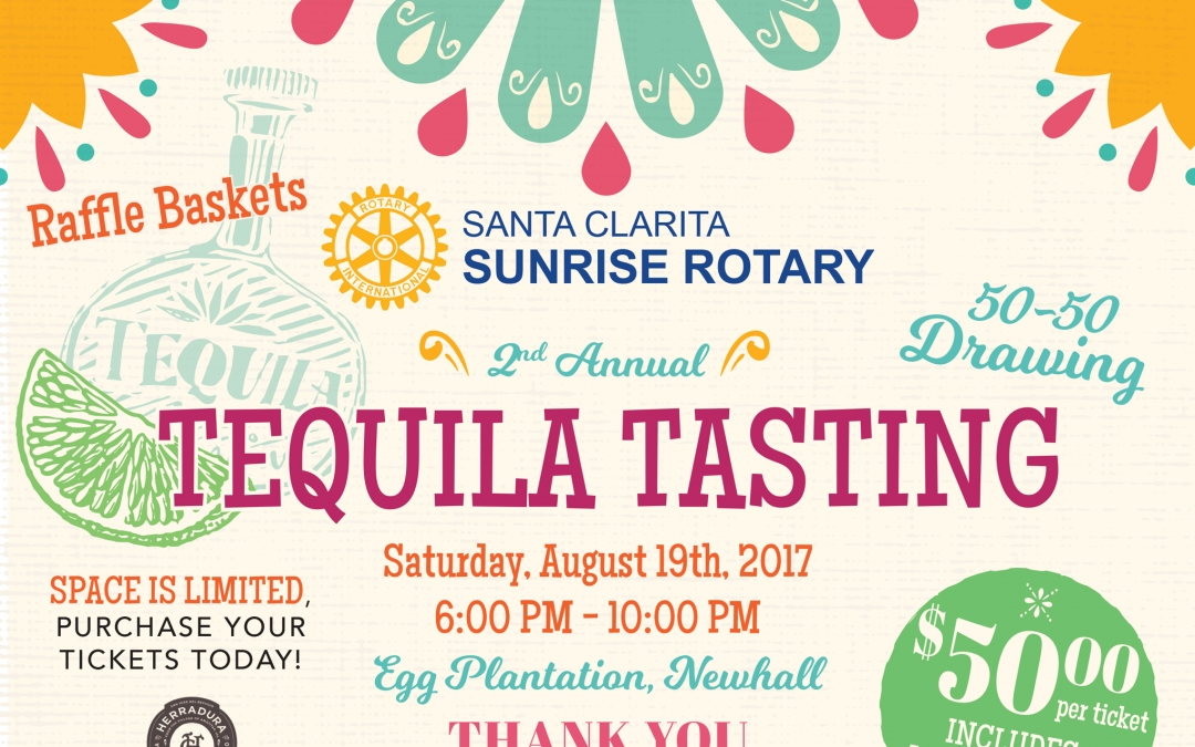 Sunrise Rotary Club Hosts Tequila and Tacos – August 19 at Egg Plantation