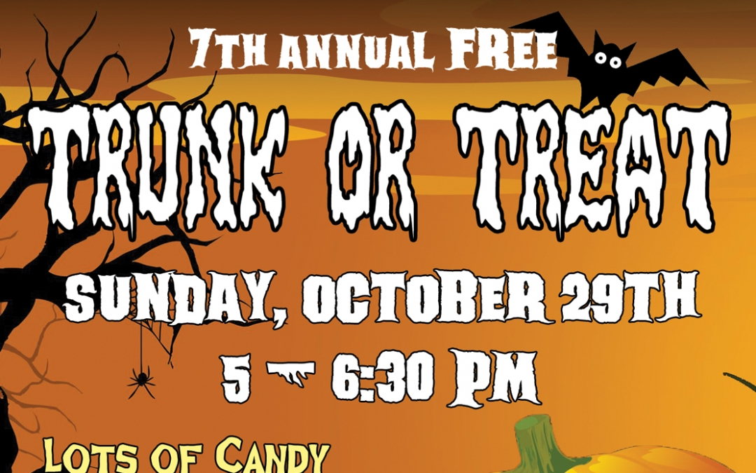 Don't Miss Trunk or Treat At Santa Clarita United Methodist Church