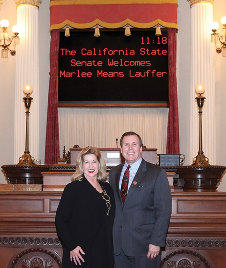 Senator Scott Wilk Honors SCV's Marlee Means Lauffer as Woman of the Year