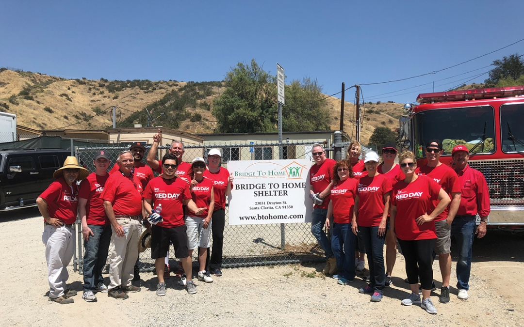 Bridge to Home Selected as Keller Williams Realty's Non-profit of the Year Santa Clarita Realty Employees Help Out at Shelter
