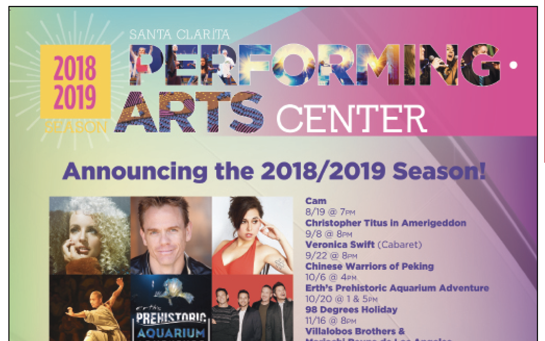 98 Degrees, America, Moana Sing-Along, and Christopher Titus Included in 2018-19 Santa Clarita Performing Arts Center (PAC) Season