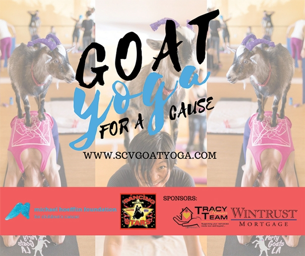 Goat Yoga For A Cause, Benefiting Michael Hoefflin Foundation