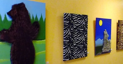 """Art You Can Pet at """"Pettable Paintings"""" Exhibit Now on display at the Newhall Community Center until October 1, 2018"""