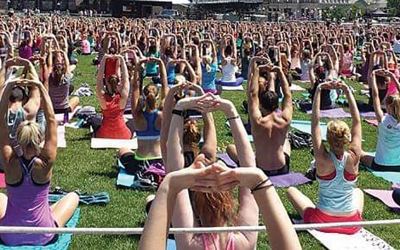 Bridge to OM – Yoga on the Field Fundraiser to Benefit Bridge to Home
