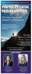 Women's Conference Discuss Purpose, Potential, Passion and Peace on March 23