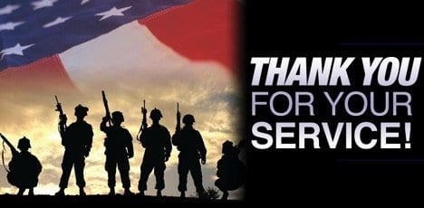 """A Warm """"Thank You"""" for Our Military"""