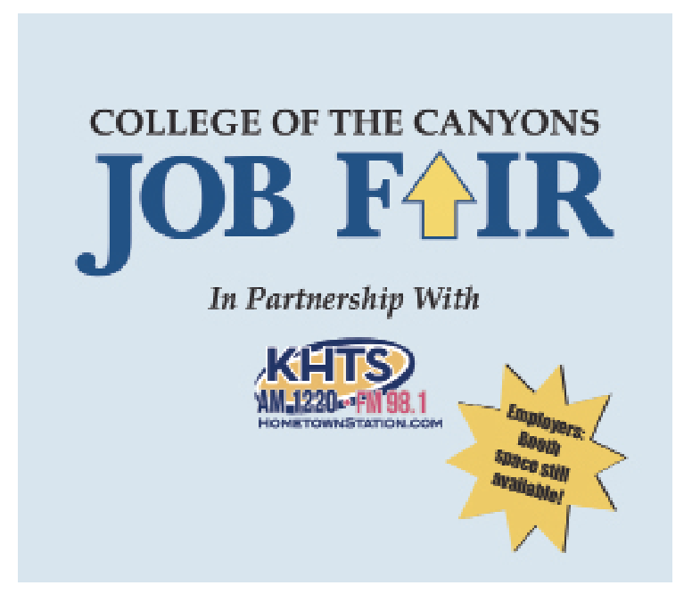 College of the Canyons to Host Fall Job Fair on October 4