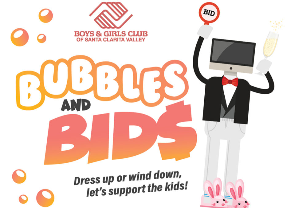 Dress Up or Wind Down, Let's Support the Kids 49th Annual Benefit Auction, Bubbles & Bids